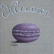"""""""Macaron violet"""" - acrylique - 20 x 20 cm"""