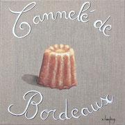 """""""Cannelé de Bordeaux"""" - acrylique - 30 x 30 cm"""