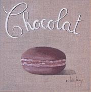 """""""Macaron chocolat"""" - acrylique - 20 x 20 cm"""