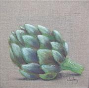 """""""Artichaut"""" - acrylique - 20 x 20 cm"""