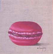 """Grand macaron"" - acrylique - 20 x 20 cm"