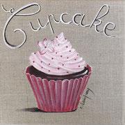 """""""Cupcake"""" - acrylique - 20 x 20 cm"""