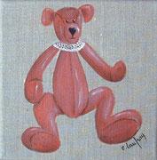 """""""Nounours"""" - acrylique - 20 x 20 cm"""