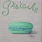 """""""Macaron pistache"""" - acrylique - 20 x 20 cm"""