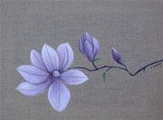 """""""Magnolia"""" - acrylique - 30 x 40 cm"""