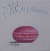 """""""Macaron cassis"""" - acrylique - 20 x 20 cm"""