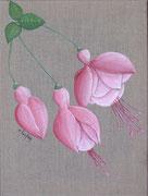 """""""Fuschia rose"""" - acrylique - 30 x 40 cm"""