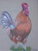"""""""Le chant du coq"""" - acrylique - 30 x 40 cm"""