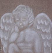 """""""Ange de Noël"""" - acrylique - 30 x 30 cm"""