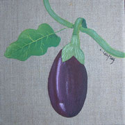 """Aubergine"" - acrylique - 20 x 20 cm"