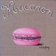 """Macaron rose"" - acrylique - 20 x 20 cm"