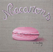 """Macarons"" - acrylique - 20 x 20 cm"