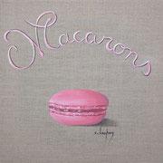 """Macarons"" - acrylique - 30 x 30 cm"