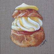 """""""Chou à la crème"""" - acrylique - 20 x 20 cm"""