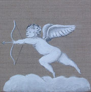 """Cupidon"" - acrylique - 20 x 20 cm"