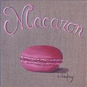 """""""Macaron"""" - acrylique - 20 x 20 cm"""