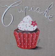"""""""Cupcake"""" - acrylique - 30 x 30 cm"""