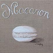 """""""Macaron vanille"""" - acrylique - 20 x 20 cm"""