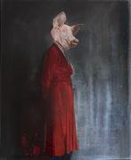 Nuit d´ivresse Louise 2019 Öl auf Leinwand  140 x 120 cm