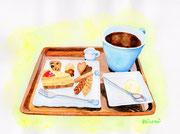 「コーヒーと手作りお菓子のセット」