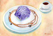 「紫芋のモンブラン」