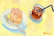 「メレンゲ・シャンティ・キャラメルとアイスコーヒー」