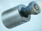 Spezial-Borcarbid-Rundstrahldüse zum Innenstrahlen von Rohre Ø 200 bis Ø 600 mm, Ablenkstück aus reinem Borcarbid (B4C) auswechselbar, Typ 4100