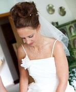 Hochzeitsschmuck: Set aus Halskette und Ohrschmuck