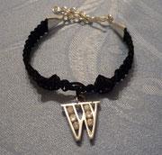 """Armband """"Silver Star"""" mit echt silbernem Buchstabenanhänger mit Zirkoniasteinen"""
