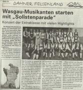 Vorberichterstattung Dahner Felsenland Aktuell, 7. April 2011