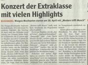 Vorankündigung Wochenblatt Pirmasens, 18. April 2012