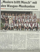 Vorankündigung Wochenblatt Pirmasens, 25. April 2012
