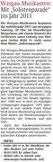 Vorberichterstattung Rheinpfalz, Pirmasenser Rundschau, 8. April 2011