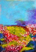 La prairie, 2014, acrylique sur papier, 21 x 29 cm