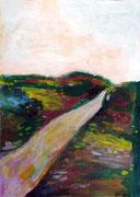 Chemin vers le lointain, 2014, acrylique sur papier, 21 x 29,7 cm