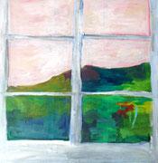 Vue de la fenêtre II, 2019,  acrylique sur toile.