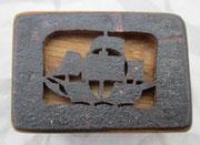Deckel einer Schatulle aus Schiffsplanke