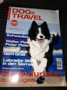 """Die Zeitschrift """"Dogs and Travel"""" darf in keinem Haushalt fehlen. Denn hier bin ich drin!"""