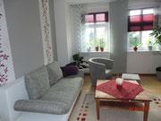 Wohnzimmer mit Doppelbettcouch 145x200