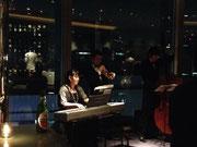 トランペット、ピアノ、ウッドベース(ジャズトリオ)