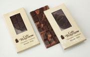 Feinste handgemachte Tafelschokoalde, Vollmilch (38% Kakaoanteil), Zartbitter (70%) oder gemischt