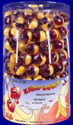 KiBa-Lolly, cherry-banana drink flavour, 100 pcs/jar