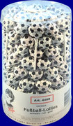 Football-Lolly with soccer ball wrapper, 100 pcs/jar