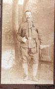 Julius Zabel im 1. Weltkrieg mit Tapferkeitsmedallie