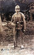 Julius Zabel als Soldat im 1. Weltkrieg