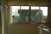この窓の景色がどう変わるか楽しみです。(^^)
