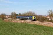 Vincelles. 7 avril 2015. B 81569-81570. Train 891155 Paris-Bercy - Clamecy. Cliché Pierre BAZIN
