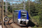 Russin (CH). 12 septembre 2011. Z 27653-27654. Train Genève-Cornavin - Lyon-Part-Dieu. Cliché Pierre BAZIN