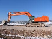 Hitachi Zaxis 870LC von Bunte. Aufgenommen im Januar 2011 in Nordbayern