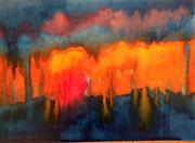 Später Sonnenuntergang. 2015, 50 x 70 cm, 275 Euro